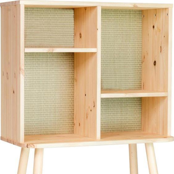 Regal »Kyabi«, 30x100x80 cm (BxHxT), FSC®-zertifiziert, Karup Design, beige, Material Kiefer, Holzwerkstoff, Massivholz
