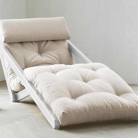 Karup Design Relaxliege Figo 70 cm, Gestellfarbe weiß beige Relaxliegen Sessel Sofas