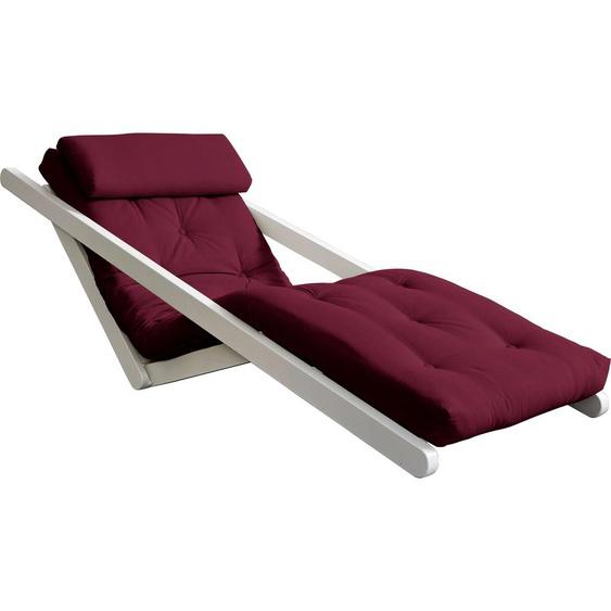 Karup Design Relaxliege Figo, inkl. Futonmatratze B: 70 cm, Gestellfarbe weiß rot Relaxliegen Sessel