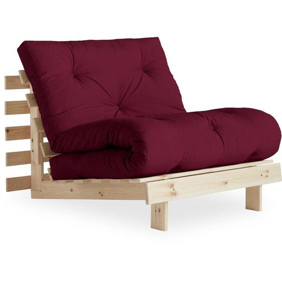 Karup Design Schlafsofa, FSC®-zertifiziert, rot, Material Kiefer »Roots«
