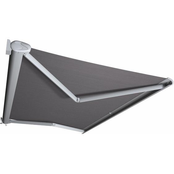 Kassettenmarkise Perform 300 x 200 cm Gestell Silber Tuch Grau