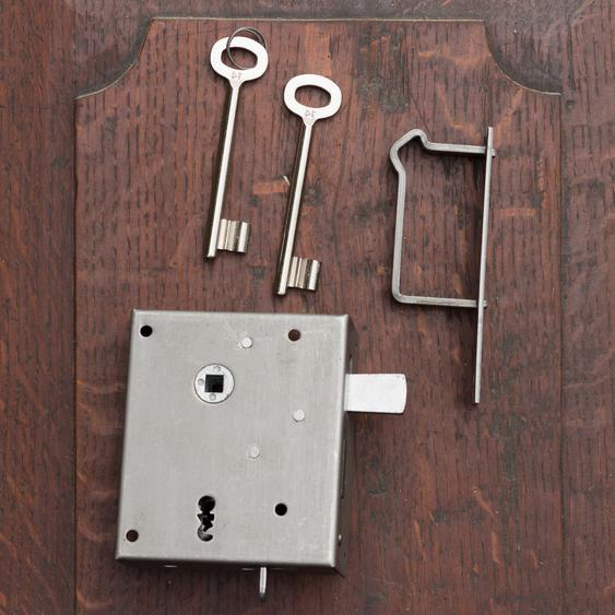Kastenschloss für DIN-Rechts - Türen, Türbeschlag mit Buntbartschloss
