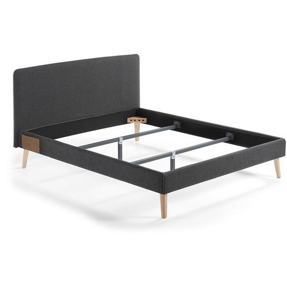 Kave Home - Dyla Bett 150 x 190 cm anthrazit