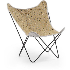 Kave Home - Fly Sessel Terrazzo senfgelb