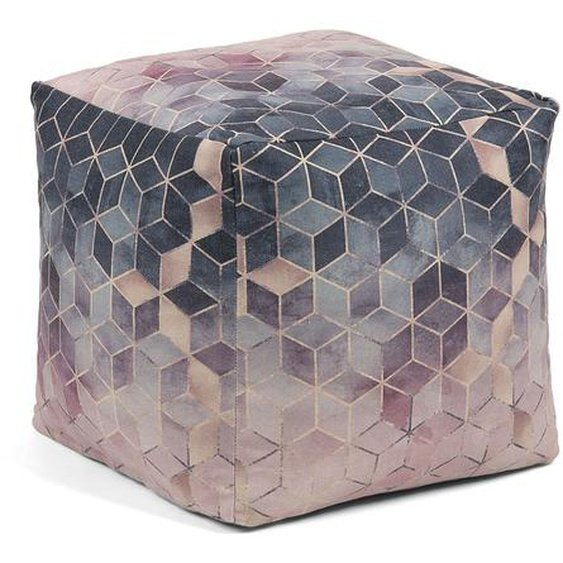 Kave Home - Imma Pouf 45 x 45 cm, mehrfarbig