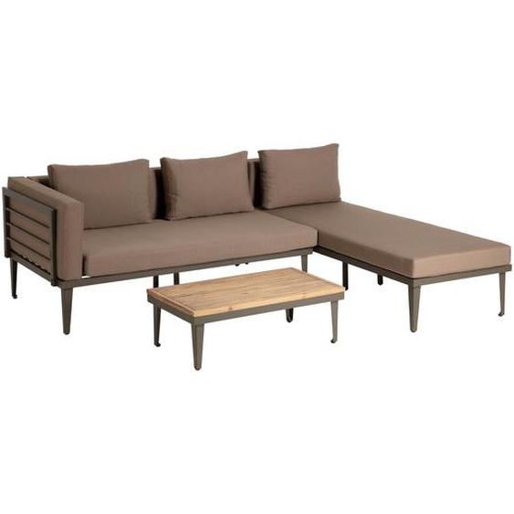 Kave Home - Pascale Set, bestehend aus Sofa, Chaiselongue und Beistelltisch