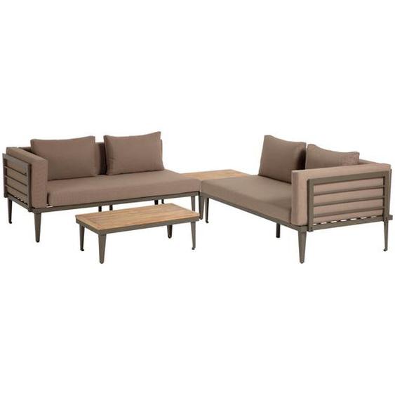 Kave Home - Pascale Set, bestehend aus Sofa, Couchtisch und Beistelltisch