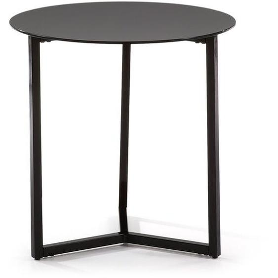 Kave Home - Raeam Beistelltisch Ø 50 cm, schwarz