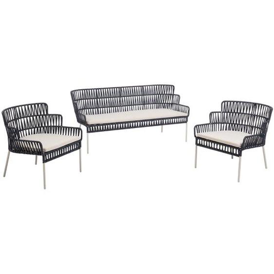 Kave Home - Robyn Set, bestehend aus einem blauen Sessel und Sofa