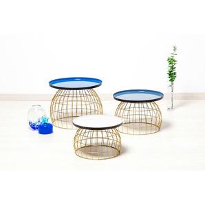Kayoom Beistelltisch Laudatio, (3er-Set) B/H/T: 50 cm x 42 blau Beistelltische Tische