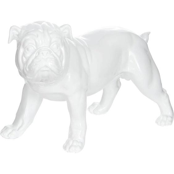 Kayoom Dekofigur Bulldoge Einheitsgröße weiß Tierfiguren Figuren Skulpturen Wohnaccessoires