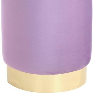 Kayoom Hocker Nena 0, Maße (B/T/H/Ø): 35/35/43/35 cm lila Sitzhocker