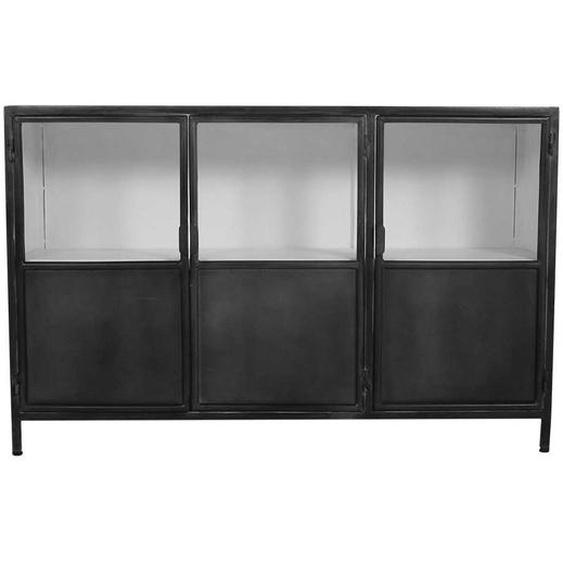 Küchensideboard im Industriedesign Eisen in dunkel Grau