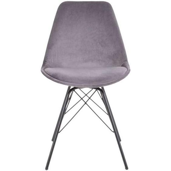 Küchenstühle in Grau und Schwarz Skandi Design (2er Set)