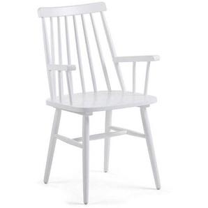 Küchenstuhl Set in Weiß Armlehnen (2er Set)