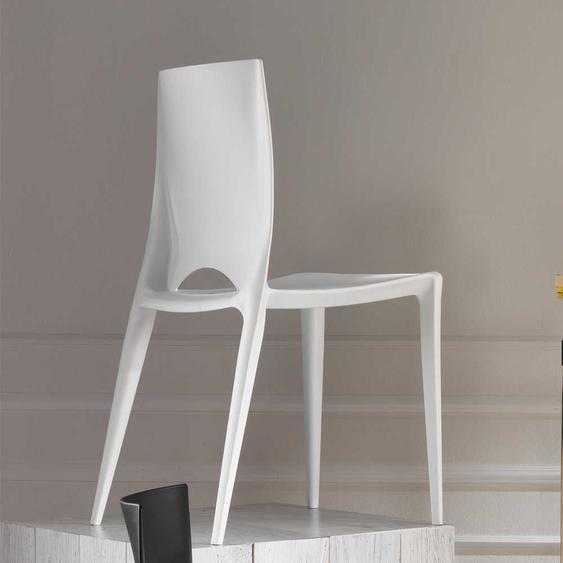 Küchenstuhl Set in Weiß modern (4er Set)