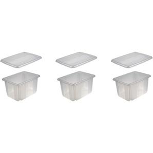 keeeper Aufbewahrungsbox »emil« (Set, 3 Stück), mit Dreh-/ Stapelfunktion