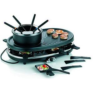 Kela 66664 Raclette-, Grill- und Fondue-Set, Für 6 bis 8 Personen, Stahl antihaftbeschichtet, Bernardino