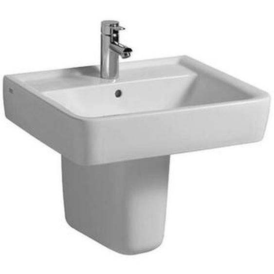 Renova Nr.1 Plan Waschtisch 60x48cm, mit Hahnloch, ohne Überlauf, Farbe: Weiß, mit KeraTect - 222262600 - Keramag