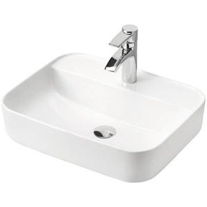 Keramik Aufsatz-Waschtisch 50 cm LUTON-56 CAMPOS-56, weiß, B x H x T ca. 50 x 14 x 40cm