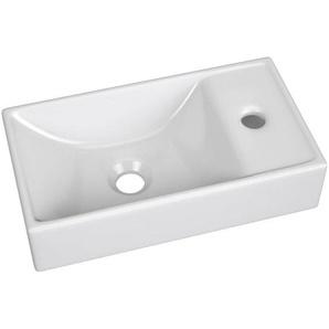 Keramik Waschbecken / Waschtisch 40cm LUTON-56 weiß B/H/T ca. 41/9/22cm