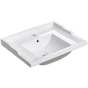 Keramik Waschbecken/Waschtisch 60cm CELAYA-56 weiß B/H/T ca. 61/22/46 cm