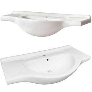 Keramik Waschbecken / Waschtisch 85cm AVEIRO-56 weiß B/H/T ca. 85/19/49cm