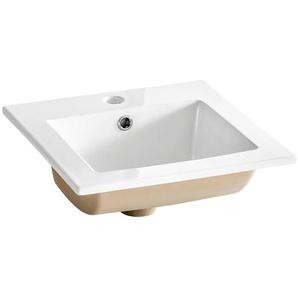 Keramik Waschtisch 42cm SOLNA-56 weiß B/H/T ca. 42/17/42cm