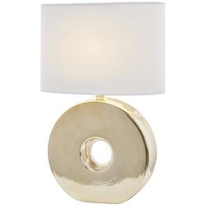 Keramiktischleuchte, 1-flammig - gold - 17 cm - 54 cm   Möbel Kraft