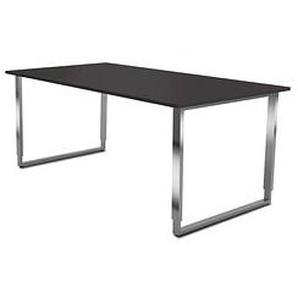 Kerkmann Höhenverstellbarer Schreibtisch Yukon grau rechteckig