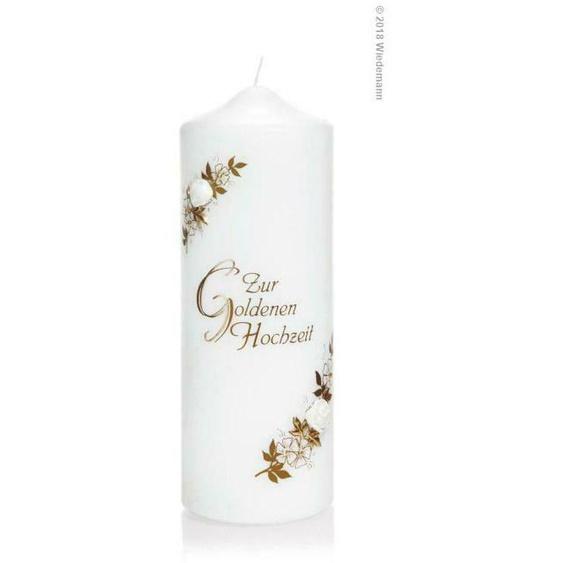 Kerze Zur Goldenen Hochzeit 220/80mm (gold) 166306.026