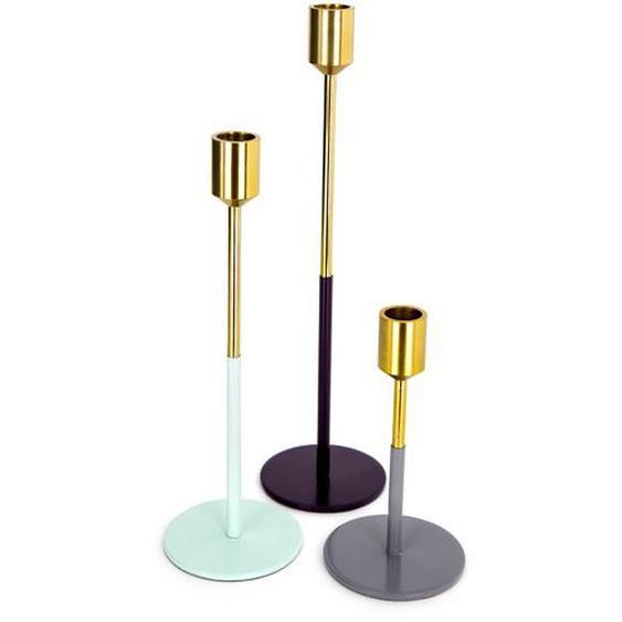 Kerzenhalter Gold Mint Pflaume Grau