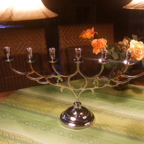 Kerzenleuchter, Tafelleuchter, Kerzenhalter, ausladend, 60cm breit, 7-flammig