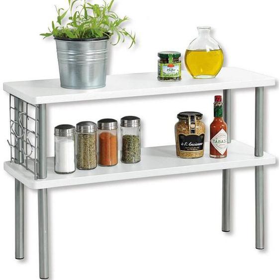 KESPER for kitchen & home Ablageregal, mit 2 Ablageböden in Farbe weiß