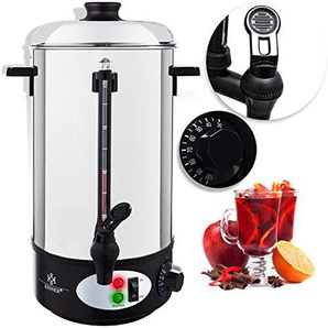 KESSER Glühweinkessel 20L Edelstahl Glühweinkocher Glühweinautomat Heißgetränkeautomat Wasserkocher Heißwasserspender Kocher Einkochautomat