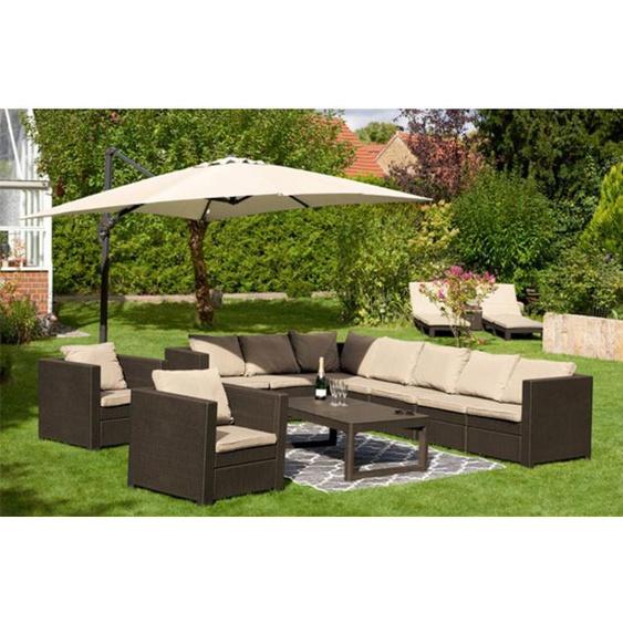 Keter Lounge Set Provence Premium braun
