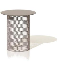 Kettal - Mesh Beistelltisch Ø 48 cm - feldspatrosa - Aluminium Tischplatte - outdoor