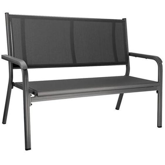 Kettler Basic Plus 2-Sitzerbank 138cm Aluminium/Textilene Dunkelgrau