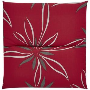 KETTLER Polska Auflagenserie  Red Bloom Alutex ¦ rot ¦ Maße (cm): B: 48 H: 4