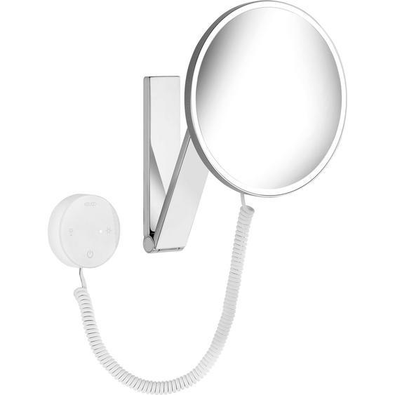 Keuco Kosmetikspiegel iLook Move 17612 rund beleuchtet Chrom mit Bedienelement