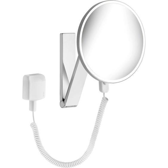 Keuco Kosmetikspiegel iLook Move 17612 rund beleuchtet Chrom mit Steckertrafo