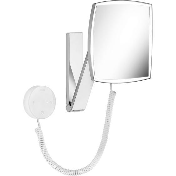 Keuco Kosmetikspiegel iLook Move 17613 eckig beleuchtet Chrom mit Bedienelement