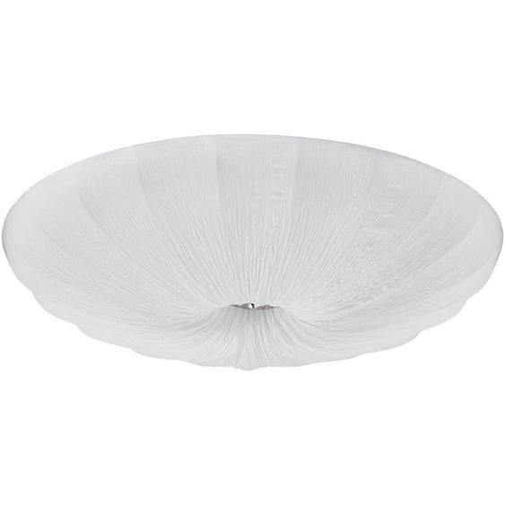 KHG Deckenleuchte, 3-flammig, Stoffschirm Weiß   weiß  