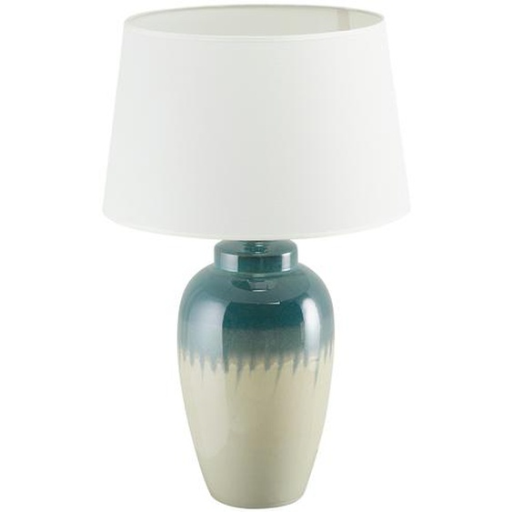 KHG Keramik-Tischleuchte, 1-flammig, blau/ Handbemalt groß ¦ blauØ: 40