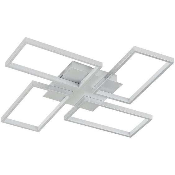 KHG LED-Deckenleuchte, 4-flammig, silberfarben - silber   Möbel Kraft