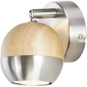 KHG LED-Spot, 1-flammig mit Holz - braun - 14 cm   Möbel Kraft