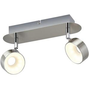 KHG LED-Spot, 2-flammig, Nickel matt ¦ silber