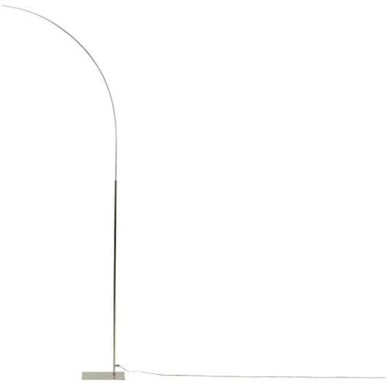 KHG LED-Stehleuchte, 1-flammig, nickel-matt - silber | Möbel Kraft