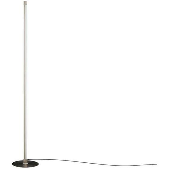 KHG LED-Stehleuchte, 2-flammig, Nickel-matt ¦ silber