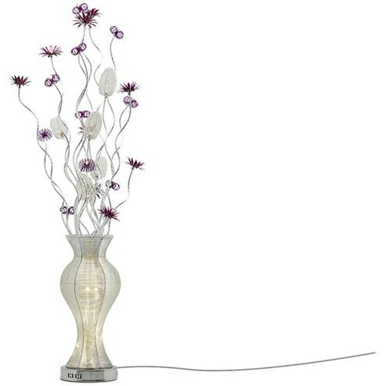 KHG LED-Stehleuchte, Vasenform ¦ silber